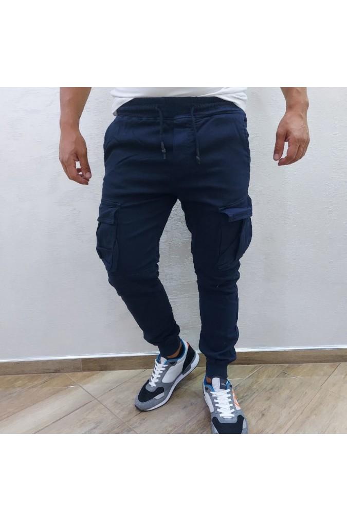 Мъжки дълъг спортен панталон със странични джобове KS22-387#