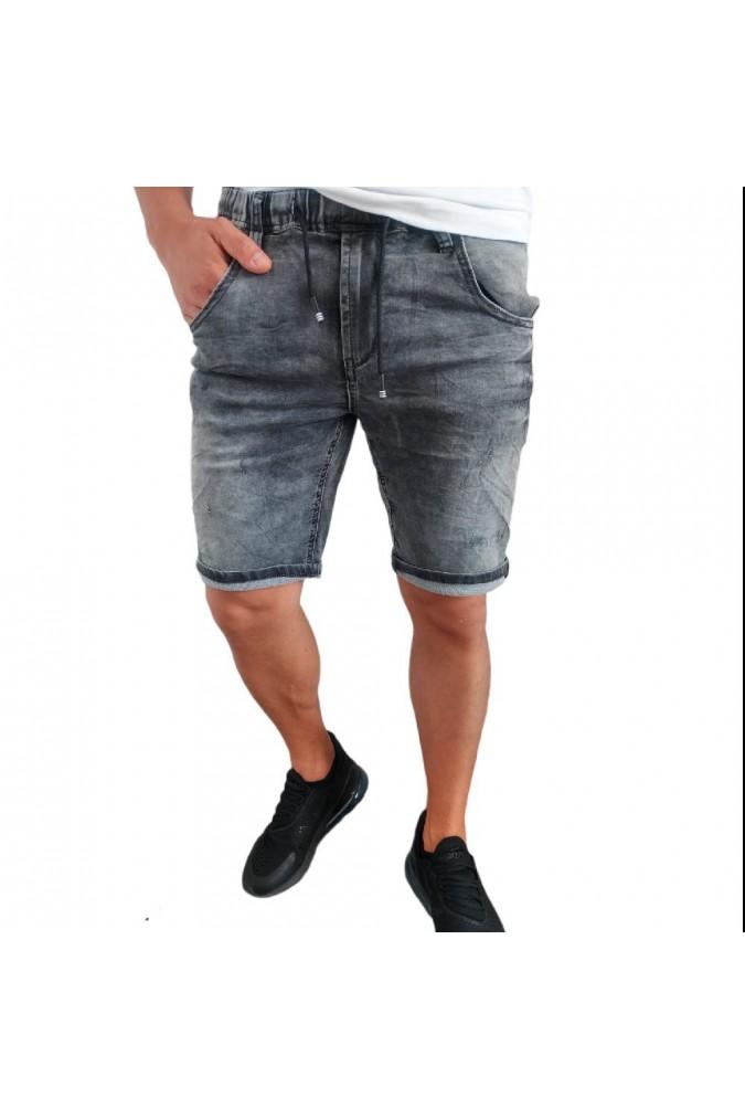 Мъжки дънки къси сиви с ластик B229 REALIZ