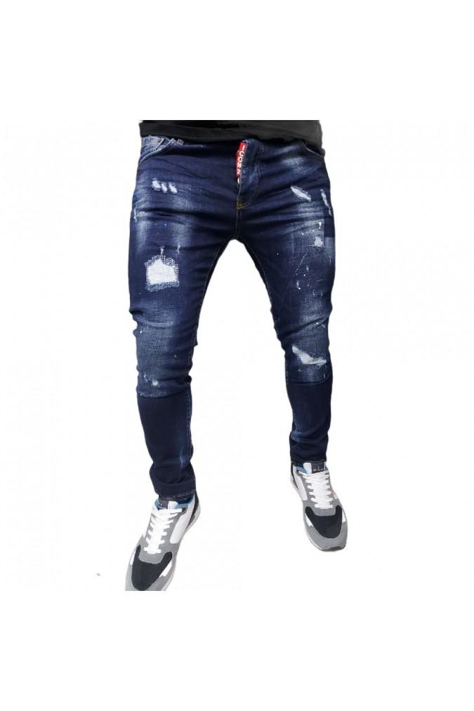 Мъжки дънки дълги тъмно сини ICON 6443