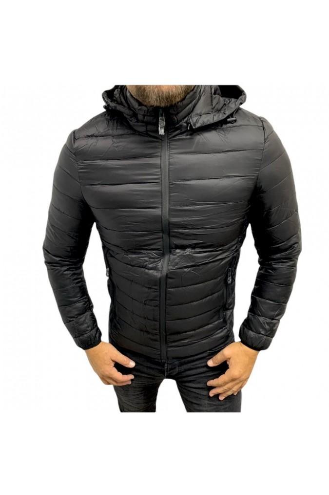 Мъжко яке черно шушляк zm-8201-a
