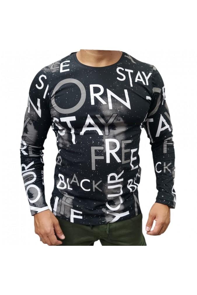 Мъжка блуза с букви 21103 lagos