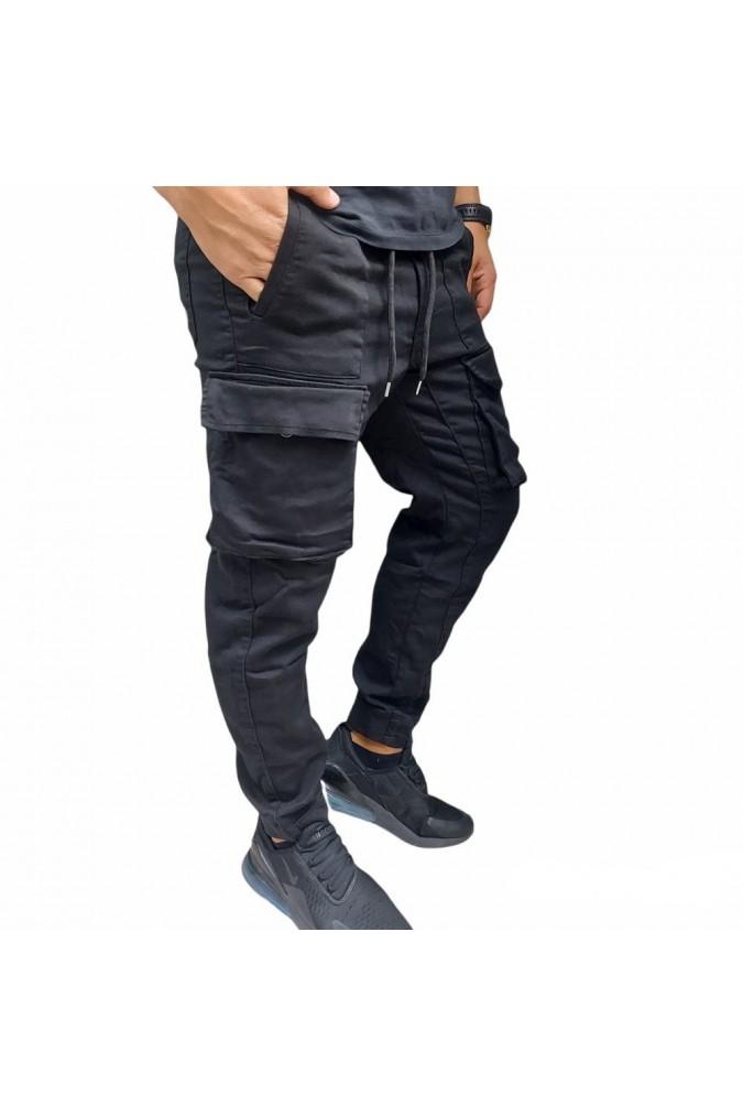 Мъжки спортен панталон черен  0283 zaba