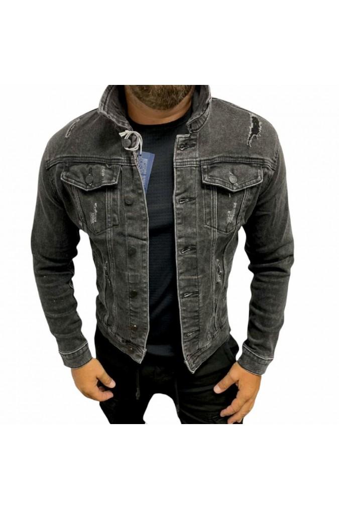 Мъжко дънково яке сиво y839