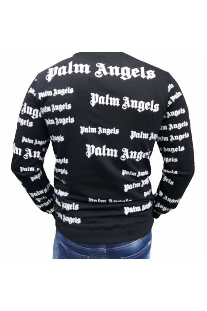 Мъжка блуза черна с надписи PALM ANGELS