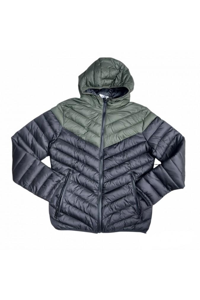 Мъжко яке черно със зелено шушляк 916-M1-3  jackets